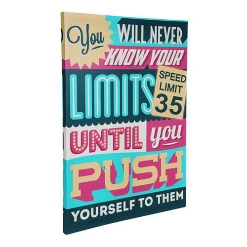 Quadro Know Your Limits em Madeira e Estampa em Canvas - 80x60 cm