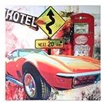 Quadro Laca Côncavo Carro Vermelho Fullway - 90x90 cm