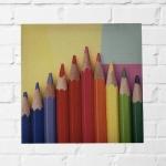 Quadro lápis coloridos