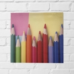 Quadro lápis coloridos II