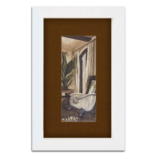 Quadro Lavabo Banheiro Vintage em Madeira - 41x26 cm