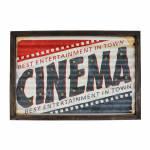 Quadro com Led Cinema Oldway em Metal - 60x80x4 cm