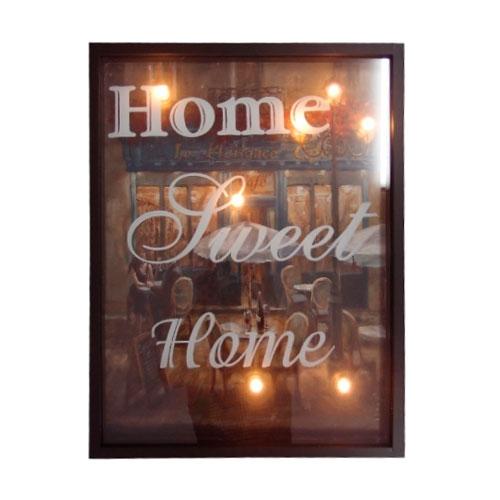 Quadro LED Cinema Sweet Home em MDF - 60x46 cm