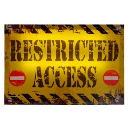 Quadro Led Restricted Access em MDF - 30x20 cm
