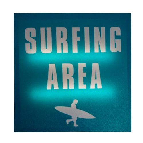 Quadro Led Surfing Area em MDF - 30x2 cm