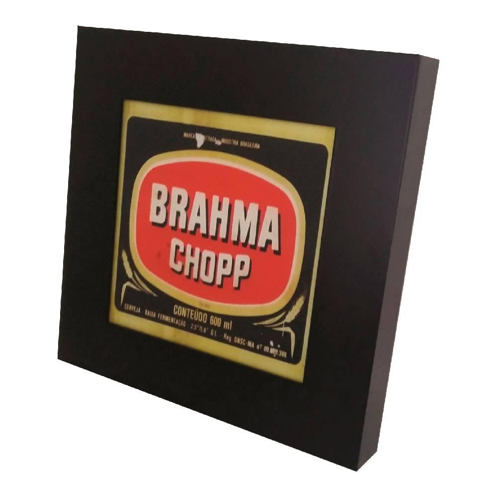 Quadro Luminária Brahma com Leds em MDF Laqueado - 36x36 cm