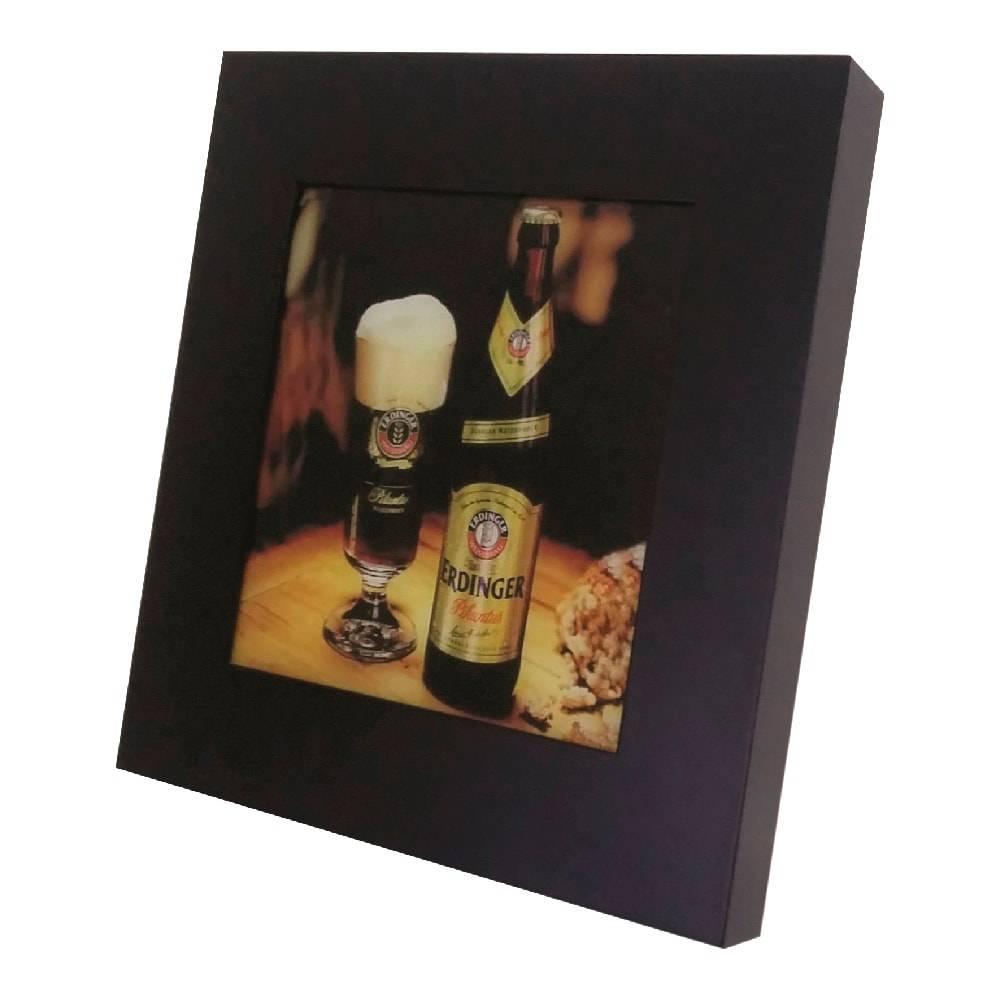 Quadro Luminária Cerveja Erdinger Beer com Leds em MDF Laqueado - 36x36 cm