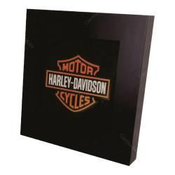 Quadro Luminária Harley Davidson com Leds em MDF Laqueado