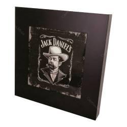 Quadro Luminária Jack Daniel´s Man c/ Leds em MDF/ Vidro