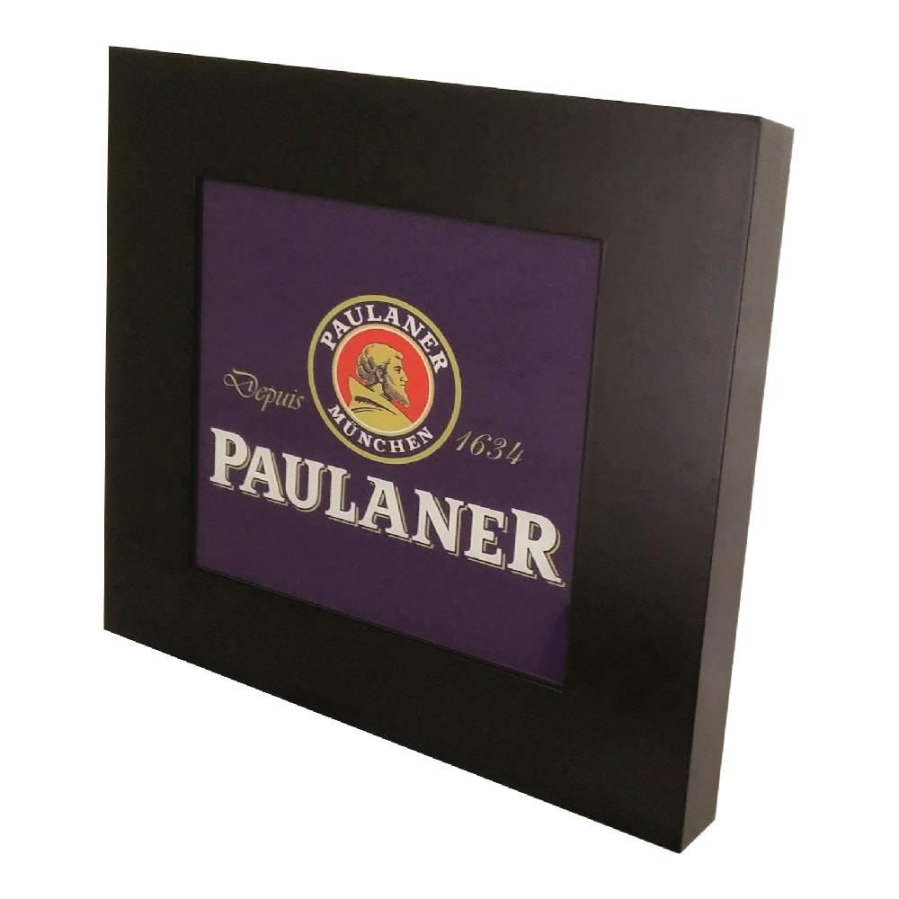 Quadro Luminária Logo Paulaner com Leds em MDF Laqueado - 36x36 cm
