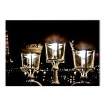 Quadro Luzes de Paris Impressa em MDF - 100x70 cm