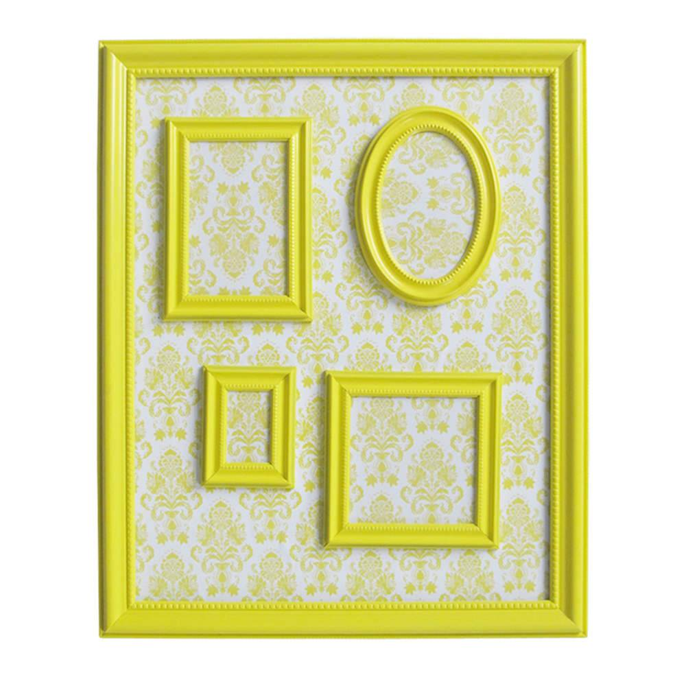 Quadro Magnético para Retratos Barroque Frame Amarelo - Urban - 57x46 cm