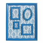 Quadro Magnético para Retratos Barroque Frame Azul - Urban - 57x46 cm