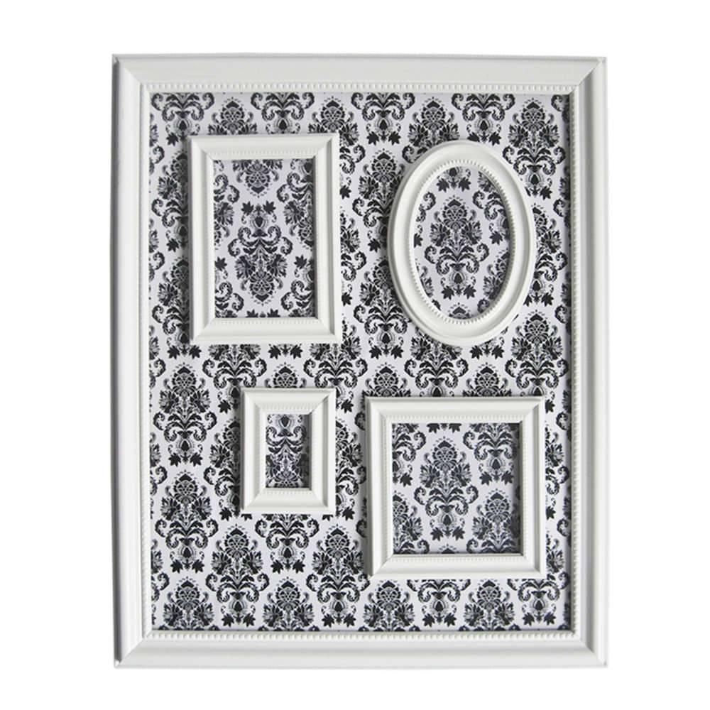 Quadro Magnético para Retratos Barroque Frame Branco - Urban - 57x46 cm