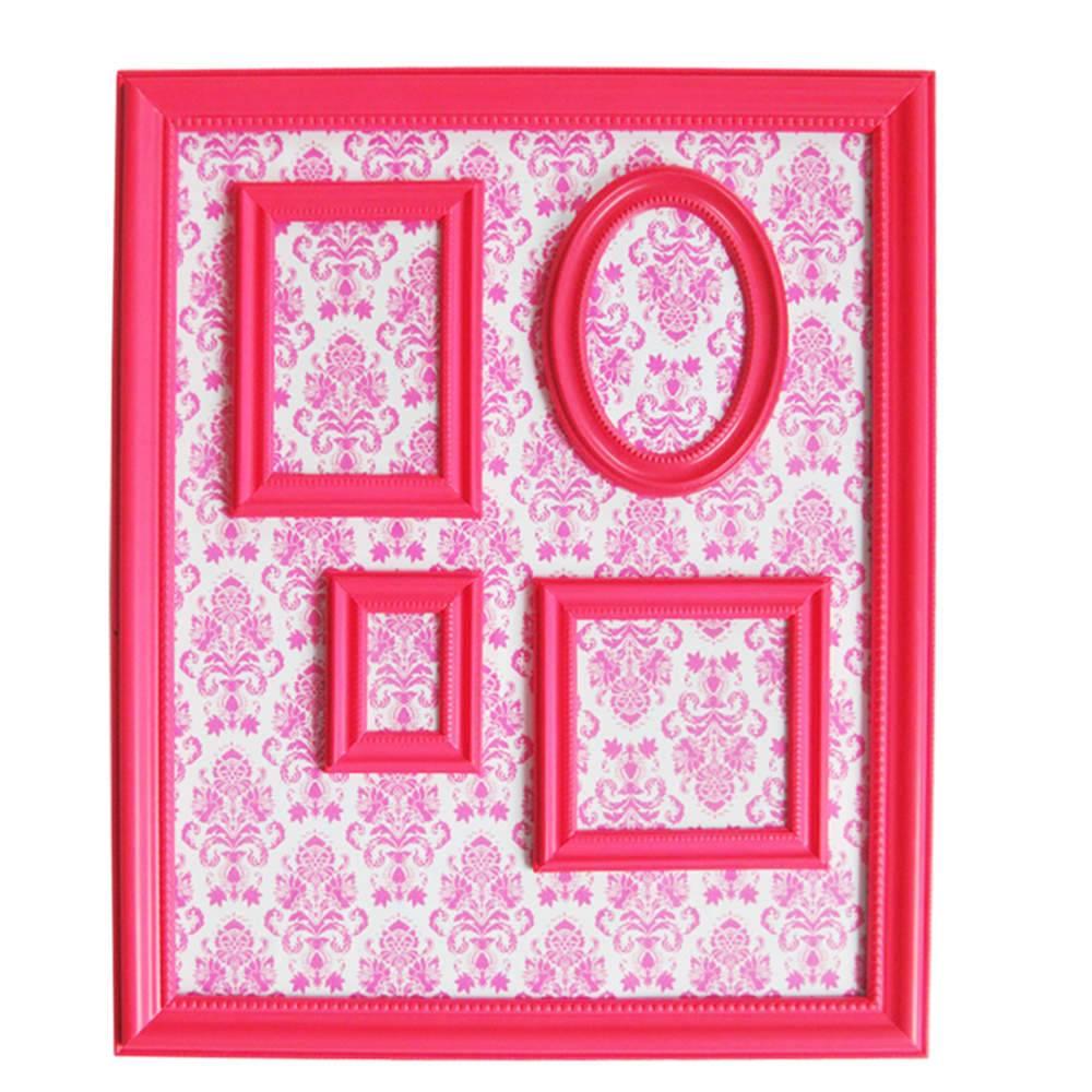 Quadro Magnético para Retratos Barroque Frame Rosa - Urban - 57x46 cm
