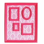 Quadro Magnético para Retratos Barroque Frame Rosa - Urban