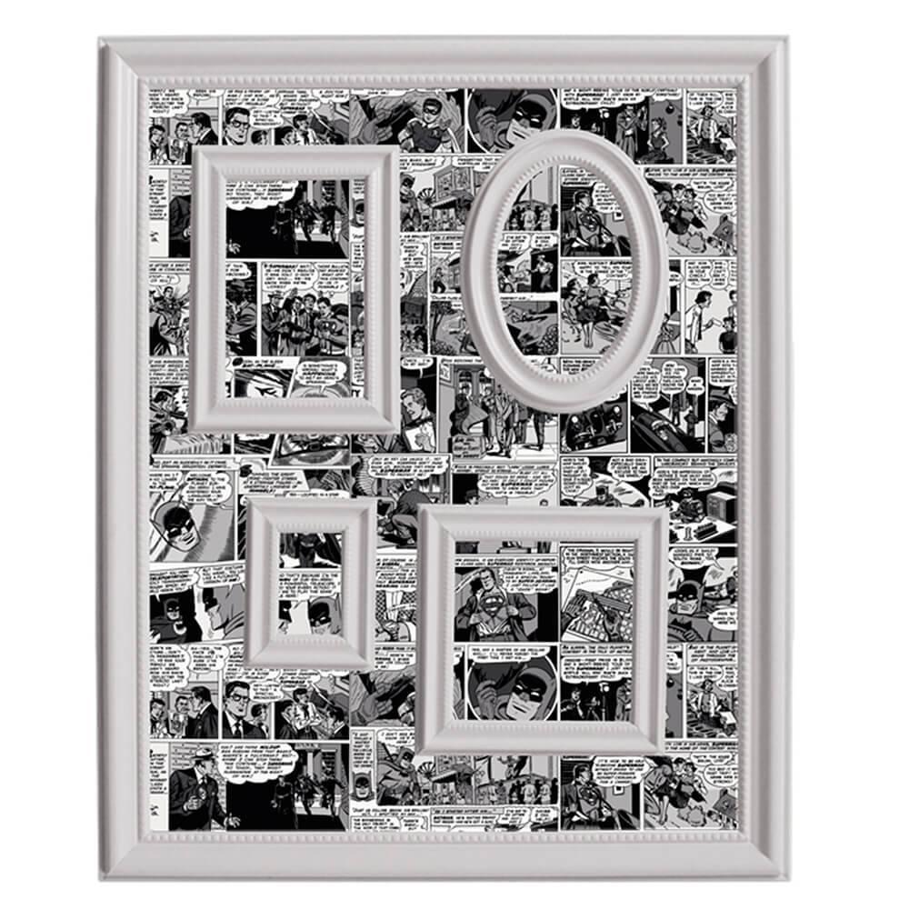 Quadro Magnético para Retratos DC Comics Preto e Branco - Urban - 57x46 cm