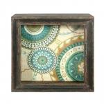 Quadro Mandalas Vintage em Madeira - 32x32 cm