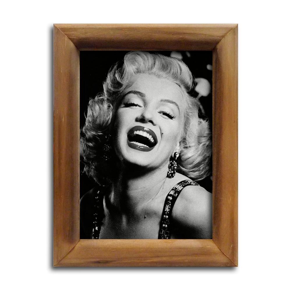Quadro Marilyn Monroe Sorrindo com Moldura em Madeira - Compre ...