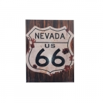 Quadro metal placa Nevada