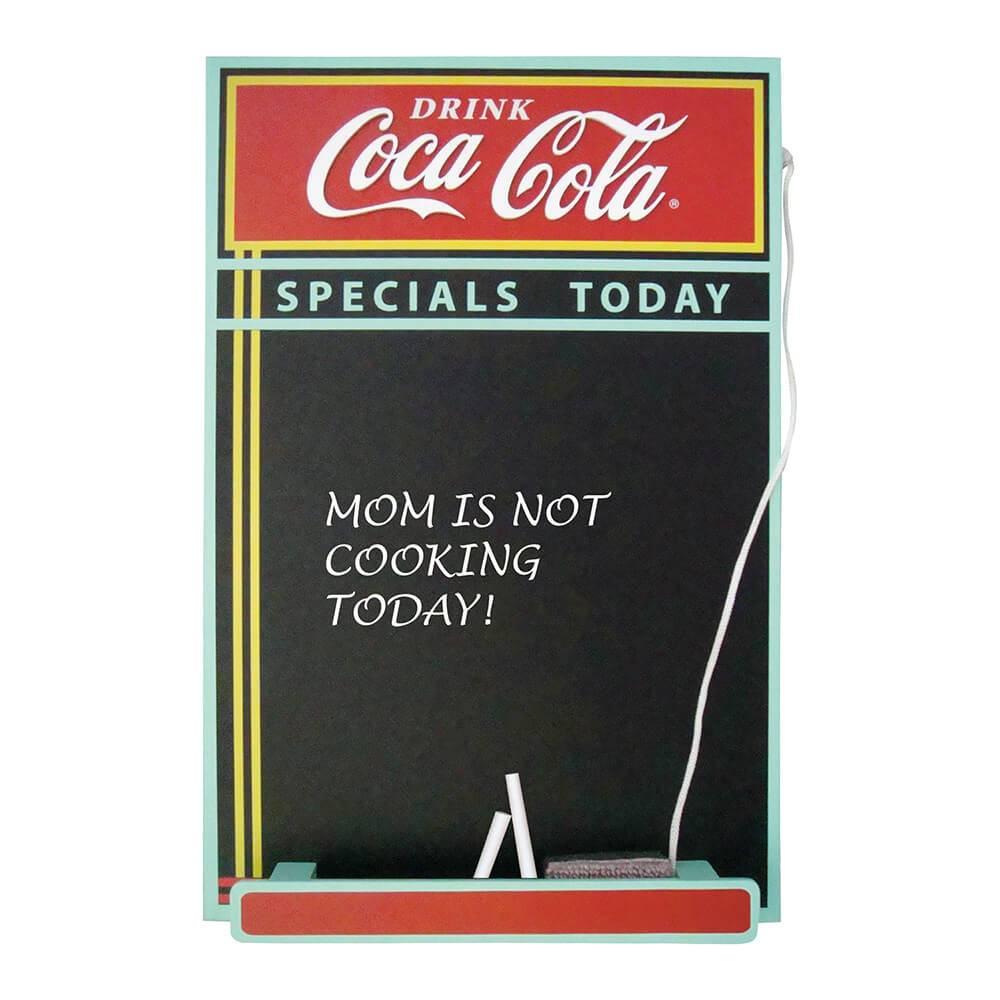 Quadro Negro Coca-Cola Menu Board Colorido em Madeira - Urban - 43x28,5 cm