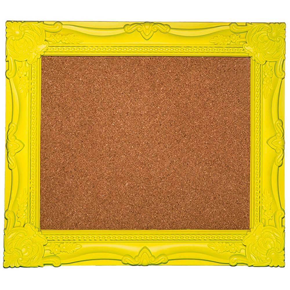 Quadro New Cirque Amarelo em Cortiça - Urban - 40,3x34,7 cm
