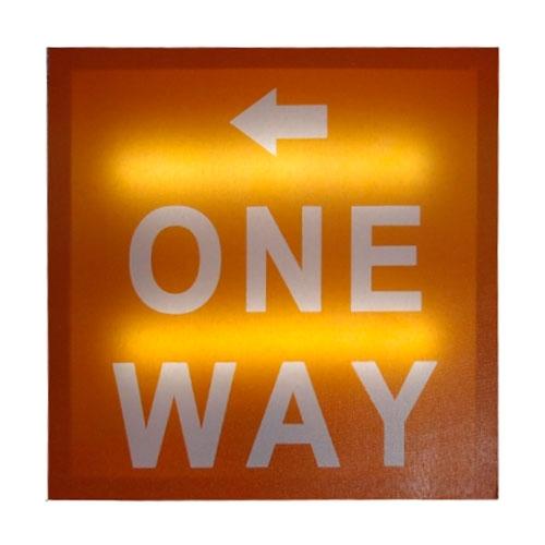 Quadro One Way - Led - em MDF - 30x2 cm