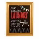 Quadro Our Famely Laundry em Madeira - 51x41 cm