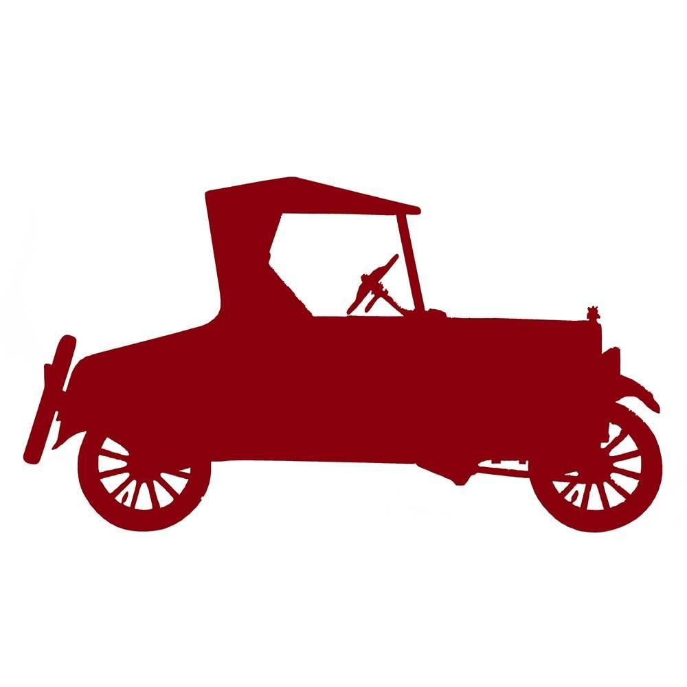 Quadro de Parede Ford Modelo T Vermelho Grande em MDF - 43x24 cm
