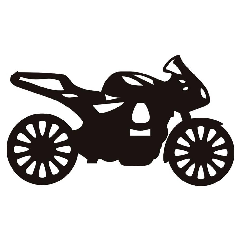 Quadro de Parede Moto Esportiva Preto em MDF - 43x26 cm