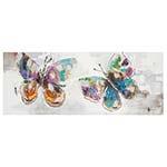 Quadro Pintura 2 Butterflies Coloridas Fullway - 70x180 cm