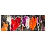 Quadro Pintura 2 Corações Orange Red Fullway - 70x200 cm
