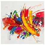 Quadro Pintura Abstrata Tinta Fullway - 120x120 cm