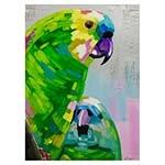 Quadro Pintura Arara Verde Fullway - 120x90 cm