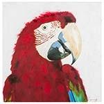 Quadro Pintura Arara Vermelha Fullway - 90x90 cm