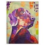 Quadro Pintura de Cachorro Fullway - 100x75 cm