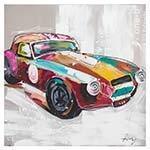 Quadro Pintura Carro Corvette Colorido Fullway - 90x90 cm