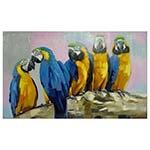 Quadro Pintura Cinco Araras Fullway - 200x120 cm