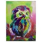 Quadro Pintura Coruja Colorida Fullway - 120x90 cm