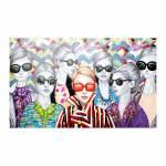 Quadro Pintura Mulheres de Óculos Fullway - 200x120 cm