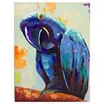 Quadro Pintura Papagaio Azul Fullway - 120x90 cm