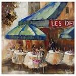 Quadro Pintura Restaurante Les Delu Fullway - 90x90 cm