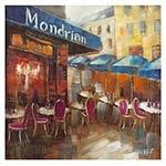 Quadro Pintura Restaurante Mondrian Fullway - 90x90 cm