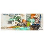 Quadro Pintura Riscos Abstratos Colorido Fullway - 70x180 cm