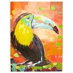 Quadro Pintura Tucano Colorido Fullway - 120x90 cm