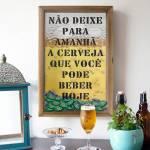 Quadro Porta Tampinhas Não Deixe para Amanhã em Madeira