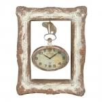 Quadro Relógio Suspenso Vintage em Madeira - 55x43 cm