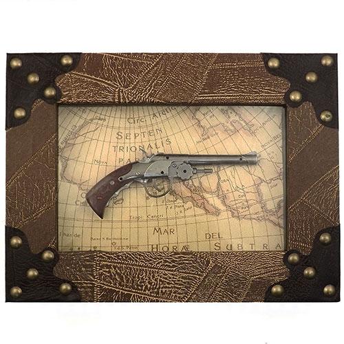 Quadro Réplica de Arma Antiga -  Piratas (Cano Liso) - 40x30 cm
