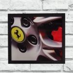 Quadro roda Ferrari (c/ moldura)