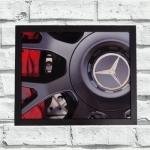Quadro roda Mercedes (c/ moldura)